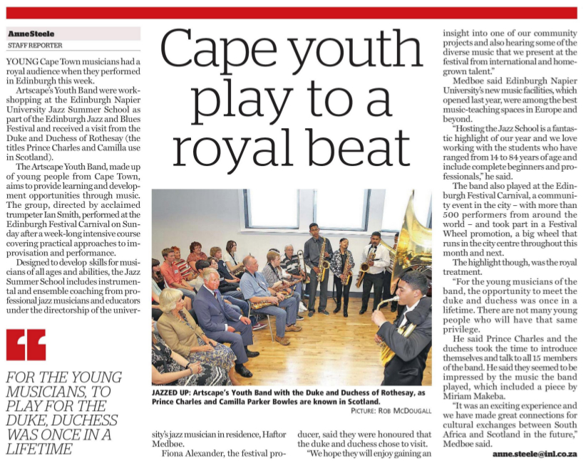 In royal company, Argus, 25 July
